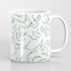 Watercolor leaf pattern Mug