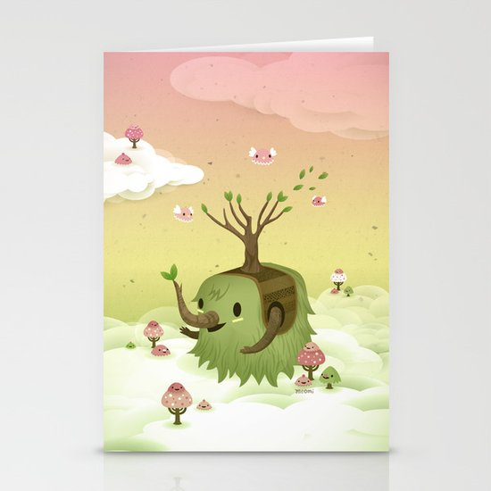 Mossiphants Stationery Card