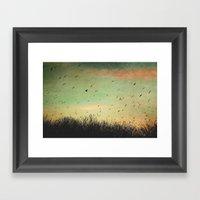 Lets get started Framed Art Print