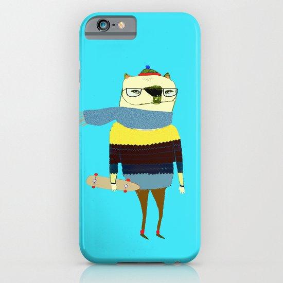 Bear Skateboarder, skateboarding print, skater iPhone & iPod Case