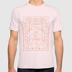 Cairo Mens Fitted Tee Light Pink SMALL