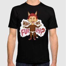 What—me furry? SMALL Black Mens Fitted Tee