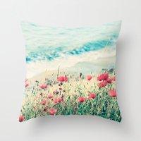 Sea of Poppies Throw Pillow