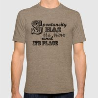 Spontaneity Mens Fitted Tee Tri-Coffee SMALL