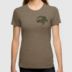 All-I-Grator Womens Fitted Tee Tri-Coffee SMALL