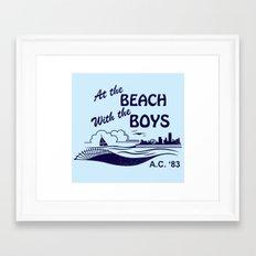 At the Beach with the Boys Framed Art Print