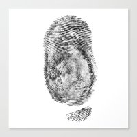 Detective Thumb Canvas Print