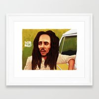 Framed Art Print featuring Caricature by Colin Spence Design
