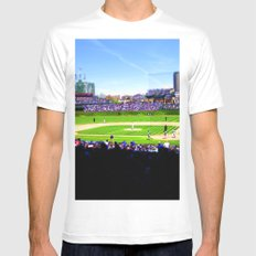 Wrigley Field Mens Fitted Tee White SMALL