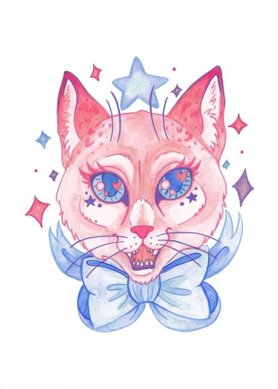 Kawaii Kitty Canvas Print