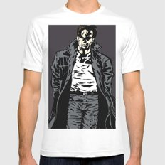 Brooding Mens Fitted Tee SMALL White