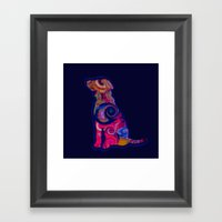 Psychedelic Dog Framed Art Print