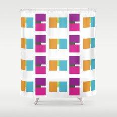 ME ME ME pattern Shower Curtain