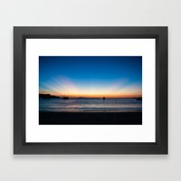 Sunset Framed Art Print