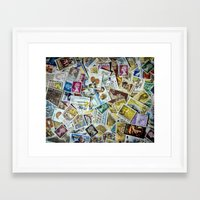 Postage Stamps Framed Art Print