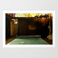 Low Light Backyard#1 Art Print