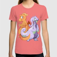 Dragons Womens Fitted Tee Pomegranate SMALL