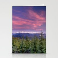 Spring Sunset At The Mou… Stationery Cards
