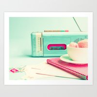 Radio and Tape Stories  Art Print