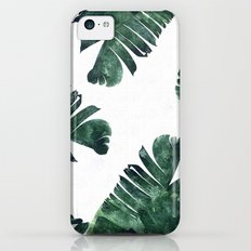 Banana Leaf Watercolor Pattern #society6 iPhone 5c Slim Case