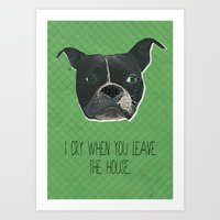 Boston Terrier Print Art Print