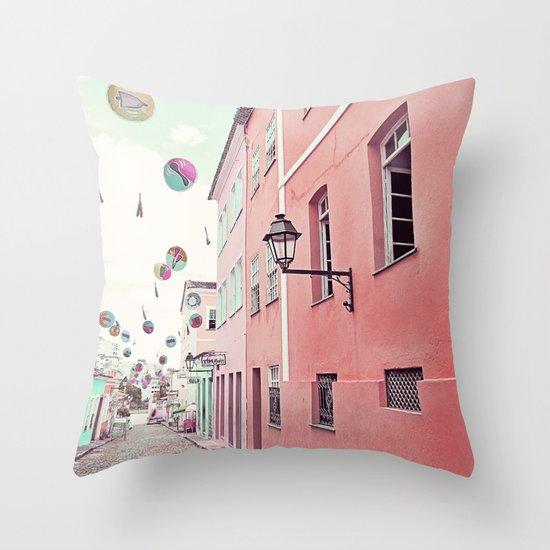 street party Throw Pillow