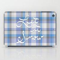 Let It Snow - Plaid iPad Case