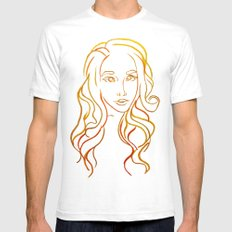 Yellow Portrait SMALL Mens Fitted Tee White