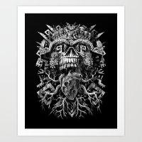 Aztec Skull Art Print