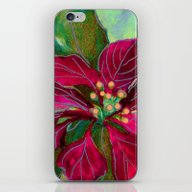 Christmas Poinsettia 3 iPhone & iPod Skin