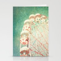 Vintage Textured Ferris Wheel Stationery Cards