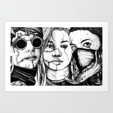 The Glasses, The Mask and the Bear Art Print