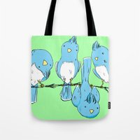 dem birds Tote Bag