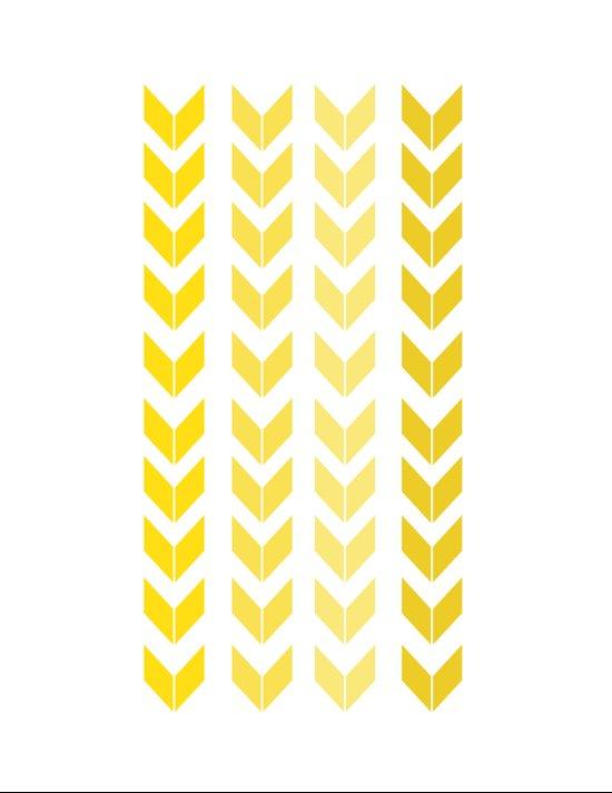chevron yellow Canvas Print