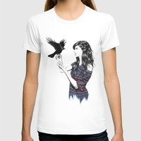 Dark Wings Womens Fitted Tee White SMALL