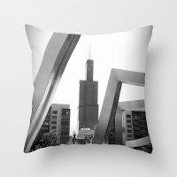 Sears Tower Sculpture Ch… Throw Pillow