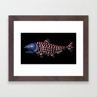 fish head Framed Art Print