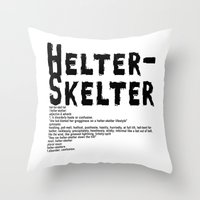 Helter Skelter (black On… Throw Pillow