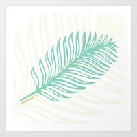 Jacksonville, Florida Palm Leaf Art Print