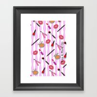 Kiss & Make Up! Framed Art Print