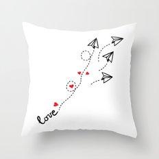 Love letter Throw Pillow