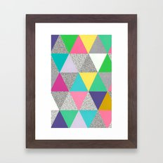 triangle party Framed Art Print