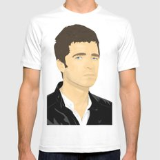 Noel Gallagher White SMALL Mens Fitted Tee