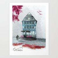 Wetzlar pink Art Print