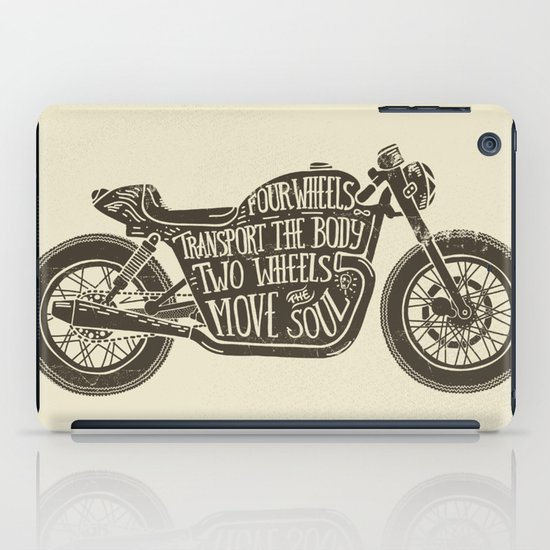 Two wheels move the soul iPad Case