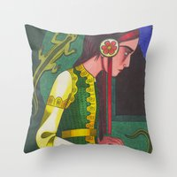 The Mistress of the Copper Mountain Throw Pillow
