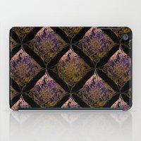 Detailed diamond, bordeaux glow iPad Case