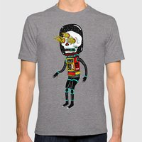 denrobot Mens Fitted Tee Tri-Grey SMALL