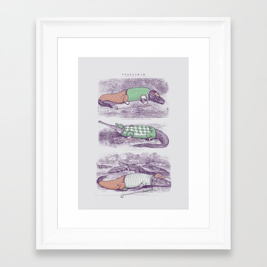 Golf Buddies Framed Art Print