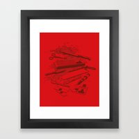 Serial Killer Toolbox Framed Art Print